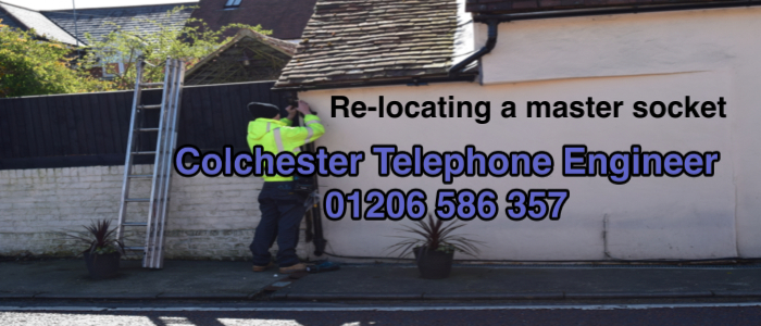 Colchester Telephone Engineer installing telephone cabling